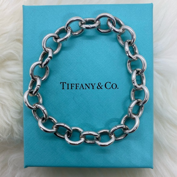 "Tiffany & Co. Jewelry - Tiffany & Co. Rolo Clasping Link Bracelet 7.75"""